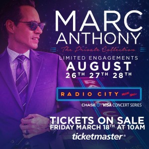 Marc Anthony en Concierto en Radio City