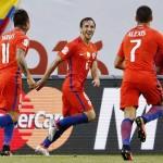 Chile derroto 2-0 a Colombia y repetirá final co Argentina