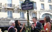 Inauguran en París la plaza Gabriel García Márquez
