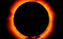 """Así luce el Sol a 3 horas del """"Eclipse Solar"""" más esperado del siglo"""